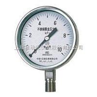 YE-100B、150B(不锈钢)膜盒压力表上海自动化仪表四厂