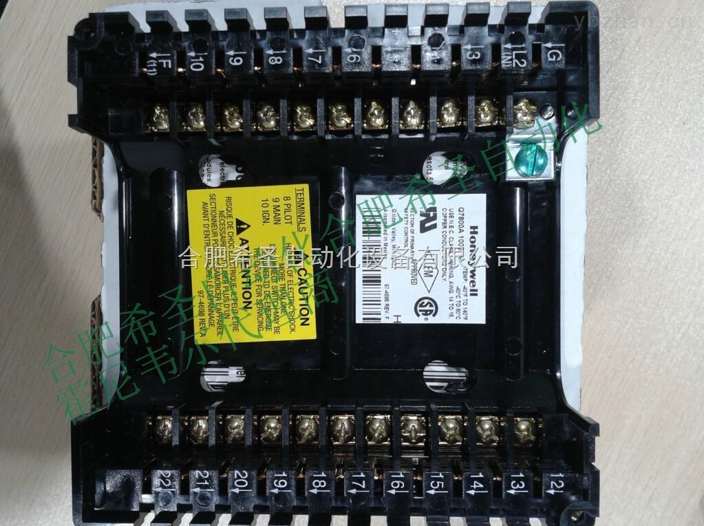 霍尼韦尔燃烧控制器通用接线座Q7800A1005 Honeywell公司的7800系列燃烧控制器可用于大、中型燃烧设备。它包括燃烧程序控制器(EC7800或RM7800),火焰信号放大器,信息显示面板,前吹扫时间控制插片及通用机座等部件组成。与其它燃烧控制产品相比,具有以下特点: a. 通过部件的组合,可获得极强的通用性。 b.