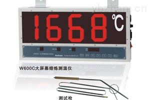 W660-供应W600大屏幕熔炼钢水测温仪