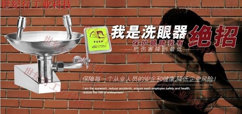 304不锈钢挂墙洗眼器