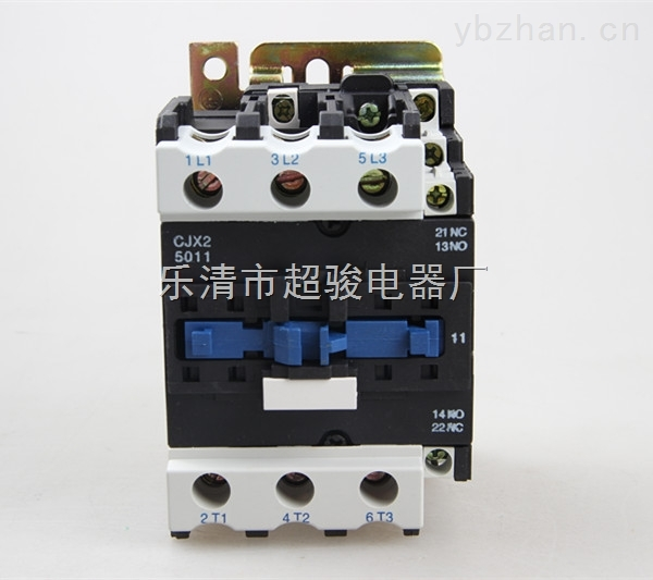 CJX2-5011交流接触器 CJX2系列交流接触器(以下简称接触器)适用于交流50Hz或60Hz,电压至690V、电流至95A的电路中,供远距离接通与分断电路及频繁起动、控制交流电动机,接触器还可加装积木式辅助触头组、空气延时头、机械联锁机构等附件,组成延时接触器、可逆接触器、星三角起动器,并且可以和热继电器直接插接安装组成电起动器。产品符合GB14048.