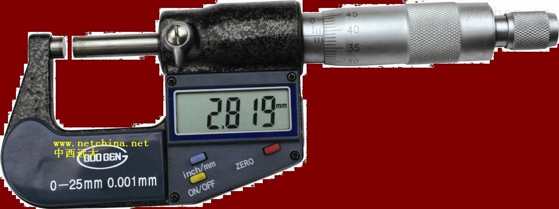 库号:M384859-数显千分尺(0-25mm) 型号:M384859