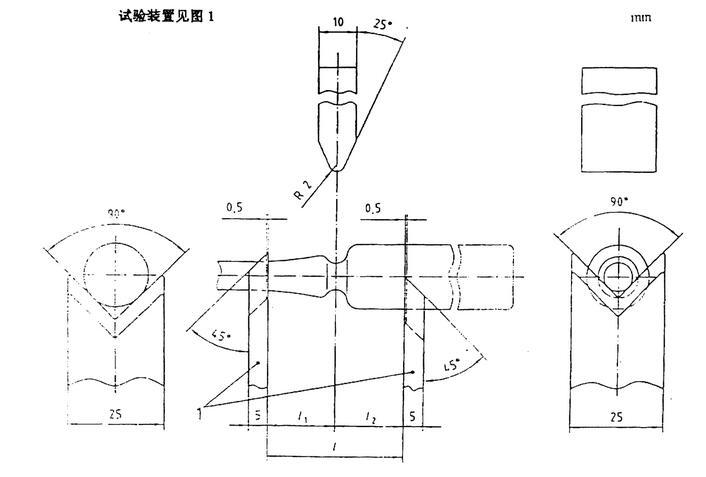 安瓿折断力测定仪装置示意图