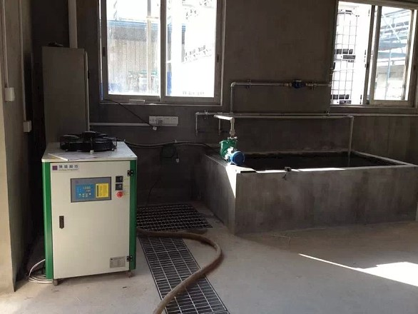 给工业水池降温,制冷,冷却用的风冷式冷水机