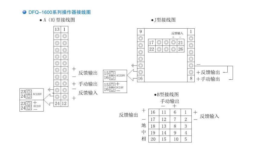 dfq系列智能操作器 接线图